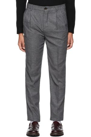 Brunello Cucinelli Grey Prince Of Wales Trousers