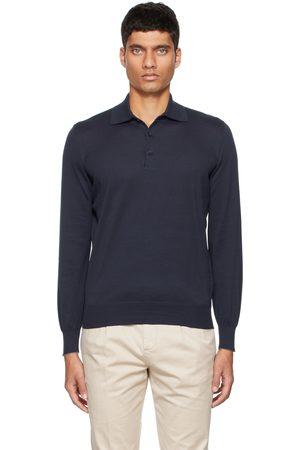 Brunello Cucinelli Navy Cotton Polo