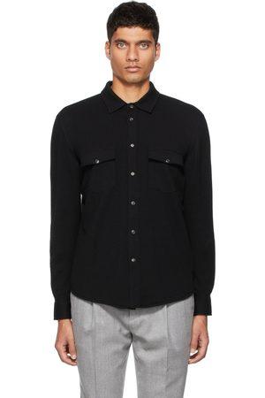 Brunello Cucinelli Black Wool & Cashmere Shirt