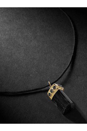 JACQUIE AICHE Uomo Collane - Gold, Tourmaline and Diamond Pendant Necklace