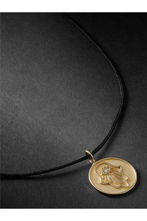 JACQUIE AICHE Uomo Collane - Hamsa , Silk and Diamond Necklace