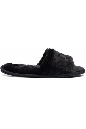 Calvin Klein Donna Stringate e mocassini - Logo-motif faux-fur slippers