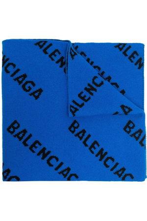 Balenciaga Uomo Sciarpe - Intarsia-knit logo scarf