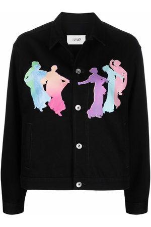 Kirin Donna Denim - Muses-motif shirt jacket