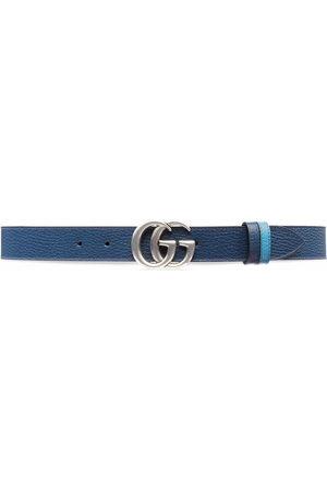 Gucci Cintura con logo GG Marmont reversibile