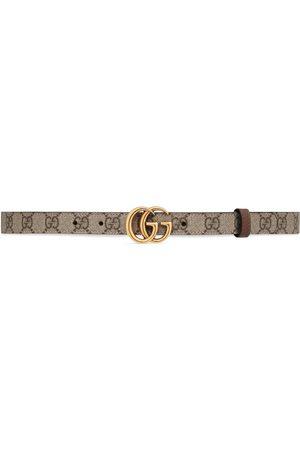 Gucci Cintura sottile reversibile GG Marmont