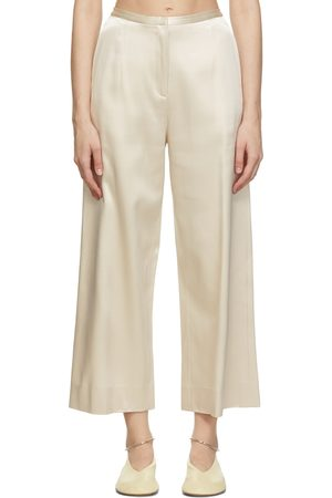 By Malene Birger Donna Off-White Cropped Sallysway Trousers
