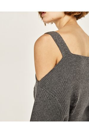 Donna Maglione - Zara PULLOVER CANNETÉ OVERSIZE SPALLE CUT OUT
