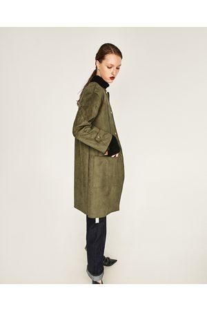 Donna Cappotti - Zara CAPPOTTO TATTO SCAMOSCIATO - Disponibile in altri colori