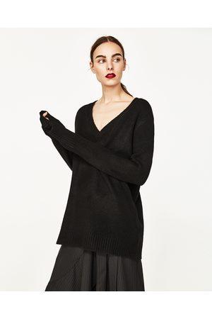 Donna Maglione - Zara PULLOVER COLLO A V - Disponibile in altri colori