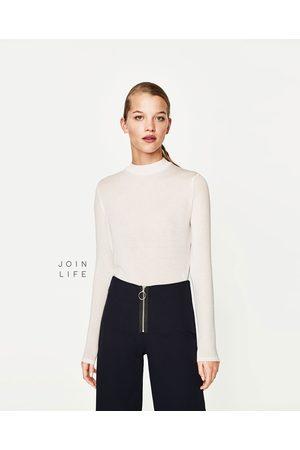 Donna T-shirts - Zara MAGLIETTA CROPPED COLLO MONTANTE - Disponibile in altri colori