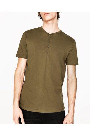 Uomo T-shirts - Zara MAGLIETTA COLLO SERAFINO - Disponibile in altri colori