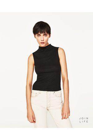 Donna T-shirts - Zara MAGLIETTA CANNETÉ MEZZO COLLO - Disponibile in altri colori