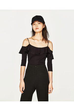 Donna T-shirts - Zara MAGLIETTA SPALLE SCOPERTE - Disponibile in altri colori