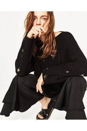 Donna Maglione - Zara PULLOVER STRAPPI COLLO A BARCHETTA - Disponibile in altri colori