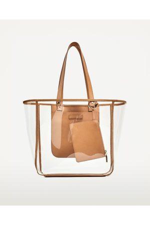 Shopper e tote - Zara SHOPPER TRASPARENTE - Disponibile in altri colori