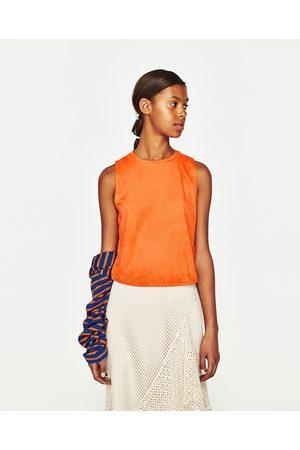 Donna Gilet - Zara GILET EFFETTO SCAMOSCIATO - Disponibile in altri colori