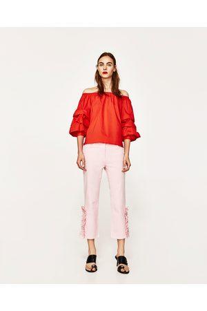 Zara Prezzi Volant DonneCompara Acqusita E Pantaloni I Jeans Online QthdrxCsB