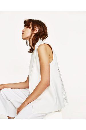 Donna Gilet - Zara COMBINED WAISTCOAT WITH BROCADE BACK