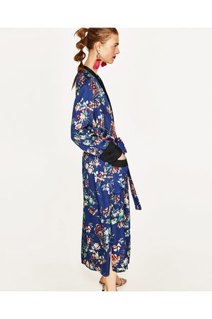 Donna Kimono - Zara KIMONO LUNGO A FIORI